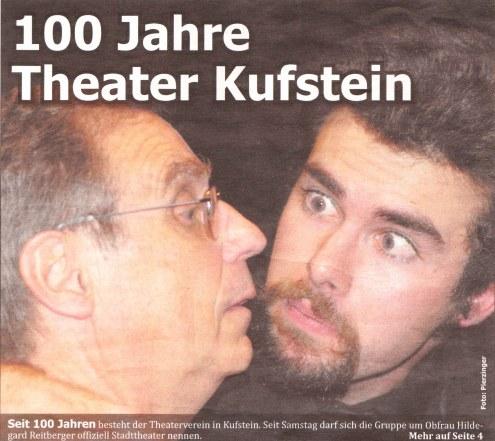 """Titelseite der Zeitung """"Kufsteinblick"""" vom 19. November 2008"""