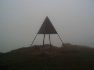 Die Gipfelpyramide des Mont Tendre